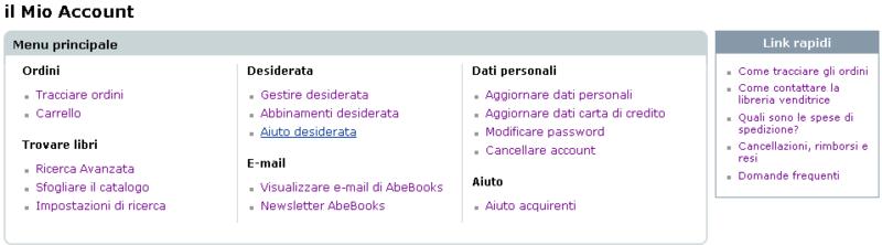 Nuovo menu acquirenti