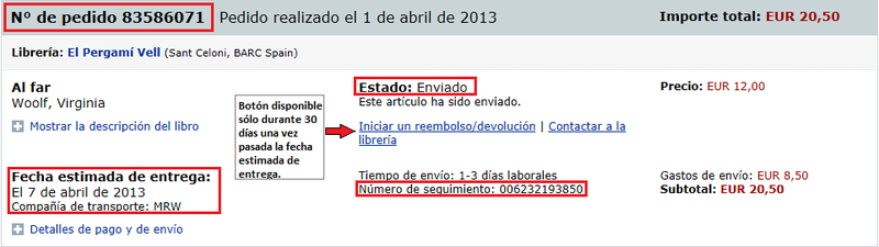 HP_Status Sent_Tracking Info